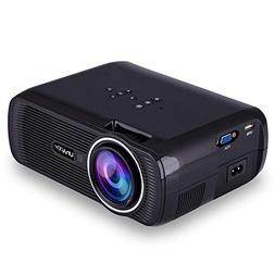 DSstyles HD Projector 1080P LED Mini Projector 3000 Lumens P
