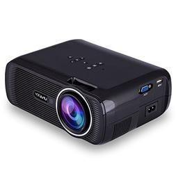 Ocamo HD Projector 1080P LED Mini Projector 3000 Lumens Port