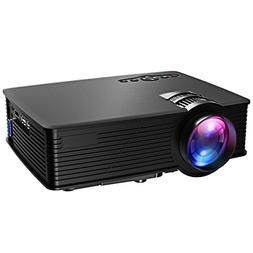 VicTsing HD Video Projector Mini Portable 1080P LED Home Pro