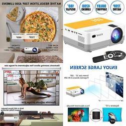 Projector Native 720P Mini Portable Movie LCD HD Video Suppo