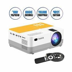 Projector, KUAK Native 720P Mini Portable Movie Projector, L