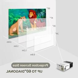 Projector Portable for Phone Mobile with USB/SD / Av / HDMI