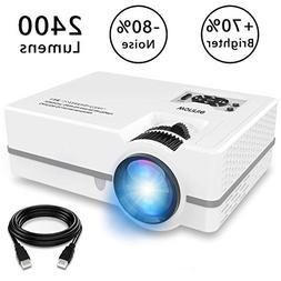 """WONNIE Projector, Mini Projector 2400 Lumens 170"""" Display, M"""