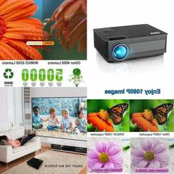 Projector, WiMiUS P18 3800 Lumens LED Projector Support 1080