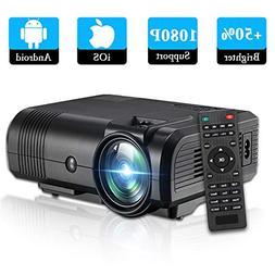 Video Projector 1080P Full HD, Weton +50% Lumens LCD Portabl