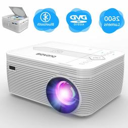 BIGASUO Projector with DVD Player, Mini Projector, Portable