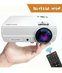 Projector, DBPOWER X5 +60% Brightness Mini Portable Video Pr