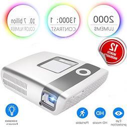 HD Video Projector Portable Cinema Flysight LED 2000 Lumens