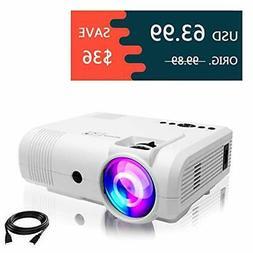 Projectors,PoFun+50% Lumens Mini Portable