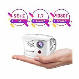 WOWOTO Q1 Pro Mini Projector Portable 2800 Lux Android 7.1 W