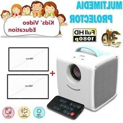 Q2 HD 1080P LCD Mini Video Projector Portable 4:3 3D Home Th