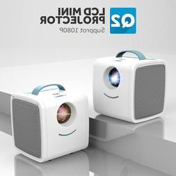 Q2 Mini 1080P LCD Projector Children Education Video Home Th