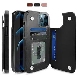 For iPhone 12 Pro Max/12/Mini/Pro Case Leather Card Wallet S
