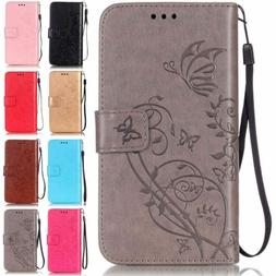 For Samsung Galaxy Note9 S9+ S8+ S7 S6E J3 J7 A5 Leather Wal