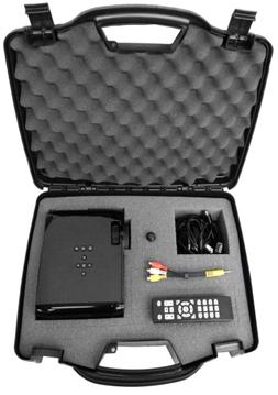 SECURE Video Projector Travel Hard Carrying Case w/ Dense Fo