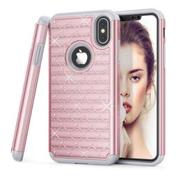 Shockproof Bling Hybrid Glitter TPU Fashion For iPhone X 6 7