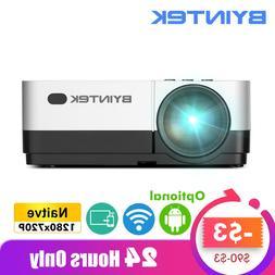 BYINTEK SKY K7 1280x720P 1080P Android WIFI LED <font><b>Min