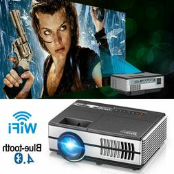 Smart HD Mini Android LED Projector Blue-tooth Home Theater
