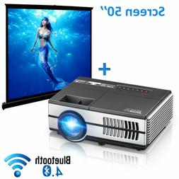 1500lms Android HD Mini Projector Wifi Bluetooth Home Theate