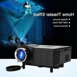 Smart Mini Projector Android HD 1080P VGA/AV/USB/HDMI/SD Hom