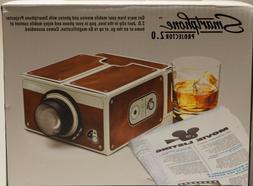 Smartphone Projector 2.0, Portable Phone Projector, Brown -