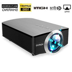 Smartphone Projector Vamvo Mini Portable 1080P Support 1800