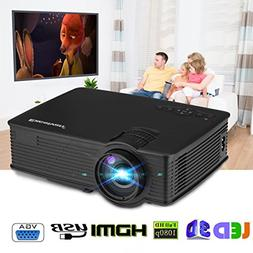 SMARTTECH PROJECTOR, 7000LUMEN LCD/LED 3D 1080P HD MULTIMEDI