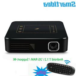 Support 4K Android7.1.2 Mini dlp Projector smart handheld be