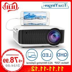 TouYinger T4 <font><b>mini</b></font> LED <font><b>projector