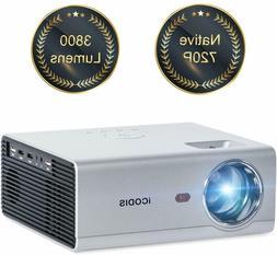 iCODIS T400 Mini Projector 3800 Lumens, 720P Native Resoluti