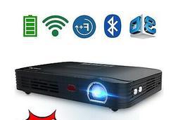 WOWOTO T8E Full HD Mini Portable Projector WiFi&Bluetooth Ho