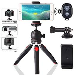 Regetek Camera Tripod with Wireless Remote, Phone GoPro Moun