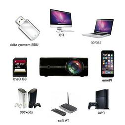U45 1600 lumens 1080P Mini Multimedia Portable HD LED USB Mi