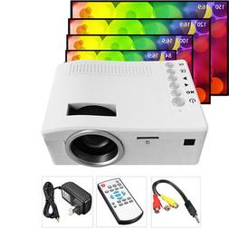 "UC18 Mini Portable LCD Projector 1080P 60"" LED Video USB For"