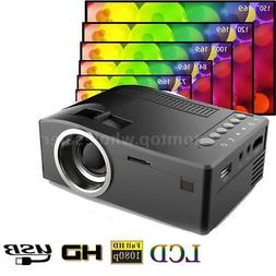 UC18 Mini Portable TFT LCD Projector 1080P Video USB AV TF C