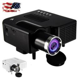 UC28+ Mini Portable LED Home Theater Projector Cinema DVD PC