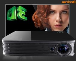Portable LED Projector HD 1080P 1200 Lumens Home Theater Vid