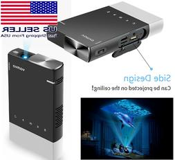 Vamvo Ultra Mini Portable Projector, 1080p Supported HD DLP,