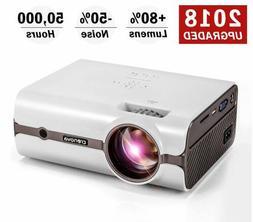 Crenova Upgraded  LED Portable 1080P Supported HD Home  Proj