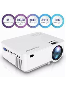 Dbpower Upgraded Mini Projector, 176'' Display 3000L Full Hd