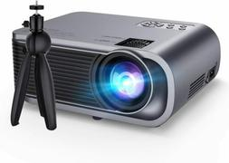 Upgraded Mini Projector with Tripod 720P HD Portable Video P