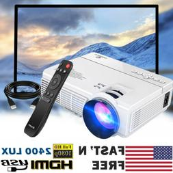 US VANKYO Portable Mini 1080P HD Projector 2400 Lux Home The