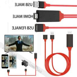 USB to HDMI HDTV Projector TV Cable Adapter For iPhone  Xs M