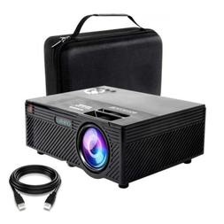 Video Projector | 2400 Lumens Home | Mini with Stand | Theat