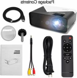GRC Video Projector, 5000 Lux 1920x1080 Supported Full HD Na