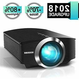 Video Projector, GooDee Mini 2018  +80% Lumens LED Portable