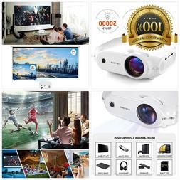 Video Projector,  Crenova Mini Home Projector, 3200 Lux Port