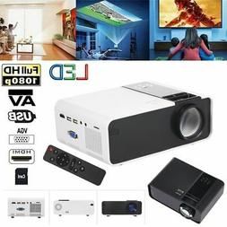 W10 Portable Projector 1080P Home Theater Cinema HD/AV/VGA U