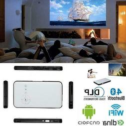 WiFi Mini Mobile Cinema DLP Projector+Smart TV Box Fr IOS An