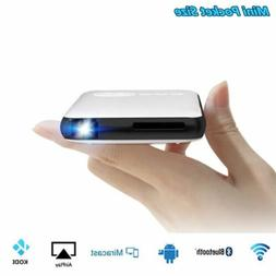 WiFi Mini Mobile Cinema DLP Projector+Smart TV Box F IOS And
